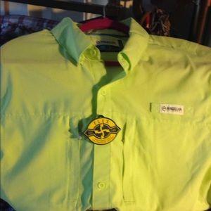 Magellan wicking fishing sports shirt large new